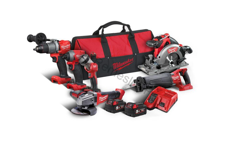 Milwaukee set náradia M18 FPP6C2-502B