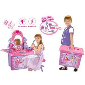 Detský kozmetický stolík G21 se zrcadlem a zvuky v kufru (DETSKý KOZMETICKý STOLíK G21 SE ZRCADLEM A)